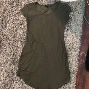 Green tight fit Dress